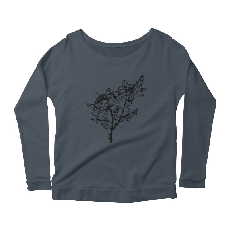 The roses Women's Scoop Neck Longsleeve T-Shirt by cindyshim's Artist Shop