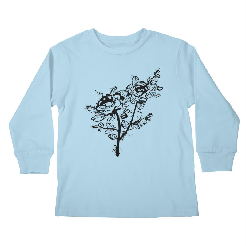 The roses Kids Longsleeve T-Shirt by cindyshim's Artist Shop