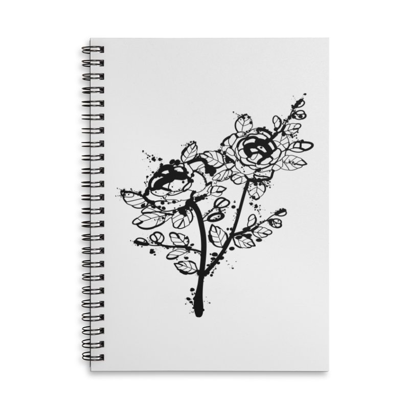 The roses Accessories Lined Spiral Notebook by cindyshim's Artist Shop