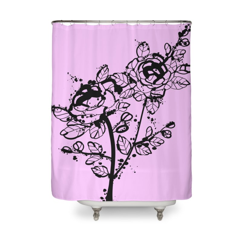 The roses Home Shower Curtain by cindyshim's Artist Shop