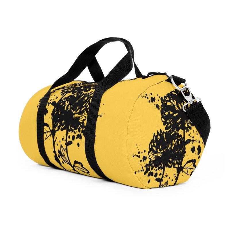 Chrysanthemum Accessories Duffel Bag Bag by cindyshim's Artist Shop