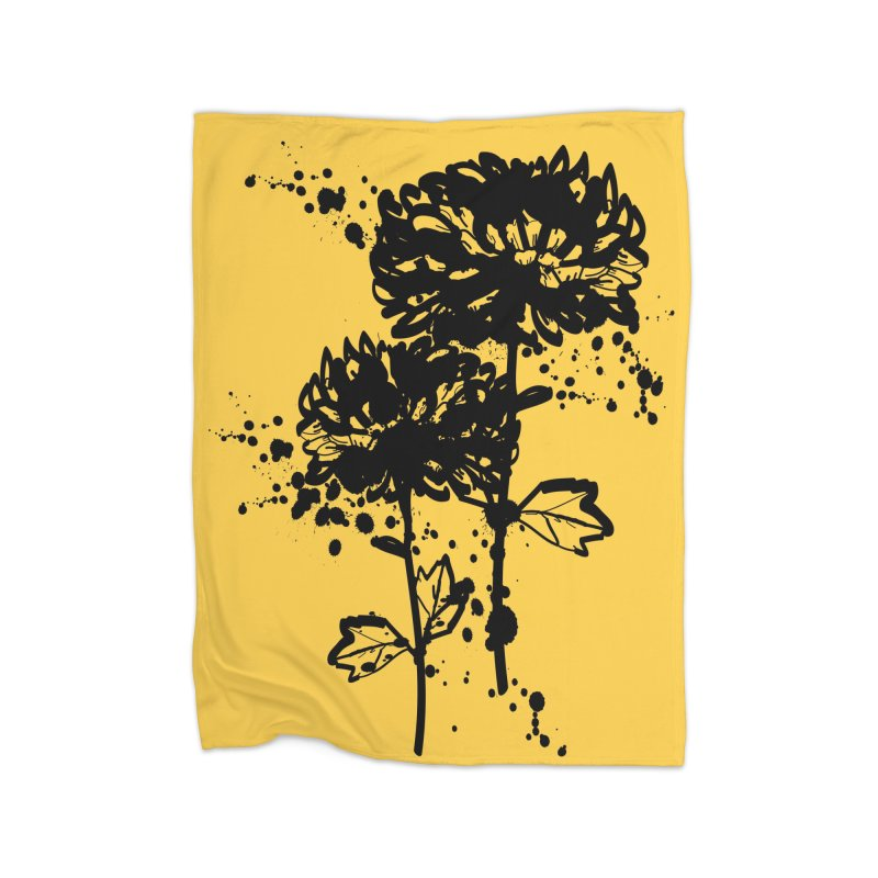 Chrysanthemum Home Fleece Blanket Blanket by cindyshim's Artist Shop
