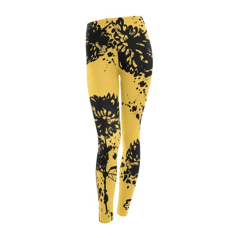 Chrysanthemum Women's Leggings Bottoms by cindyshim's Artist Shop