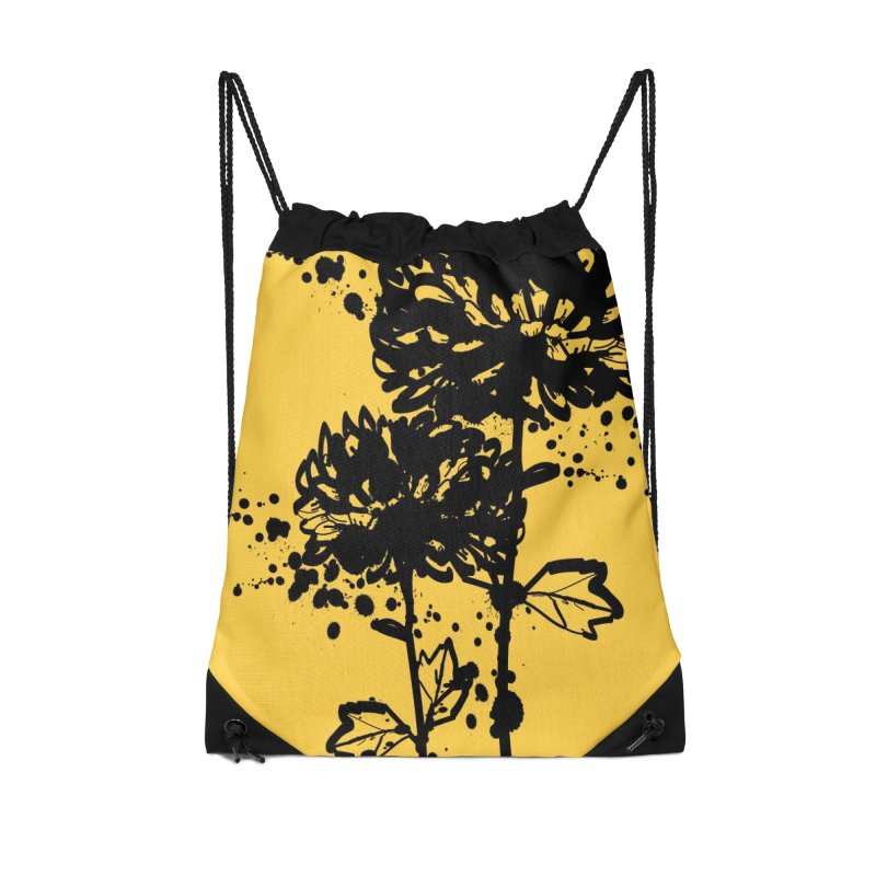 Chrysanthemum Accessories Drawstring Bag Bag by cindyshim's Artist Shop