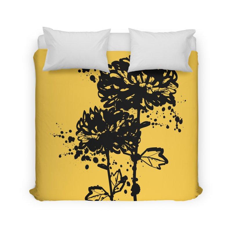 Chrysanthemum Home Duvet by cindyshim's Artist Shop
