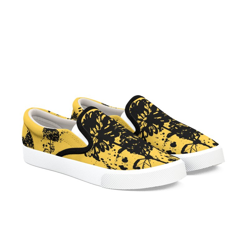 Chrysanthemum Women's Slip-On Shoes by cindyshim's Artist Shop