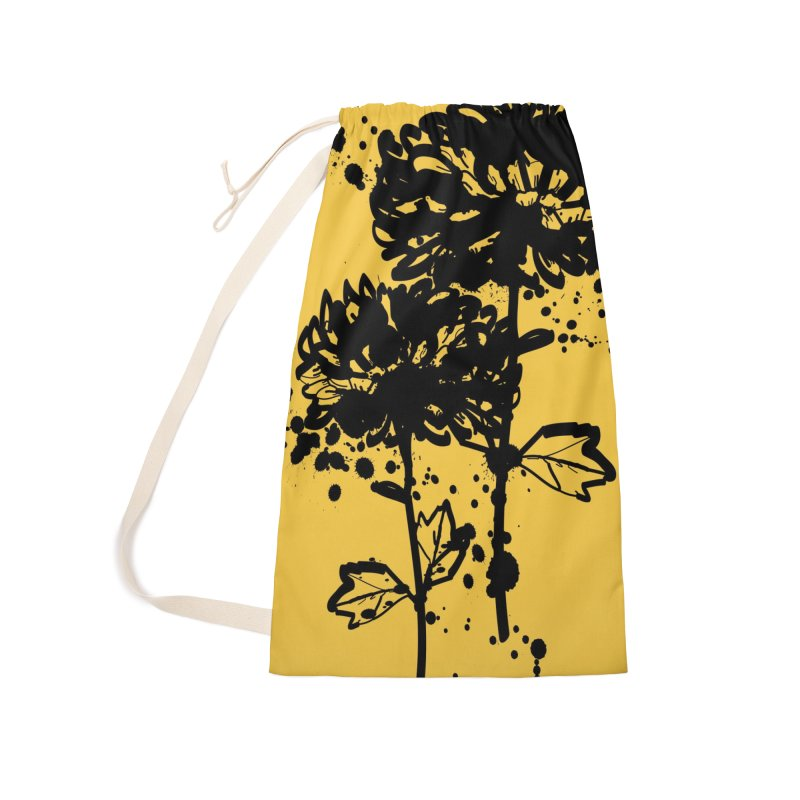 Chrysanthemum Accessories Laundry Bag Bag by cindyshim's Artist Shop