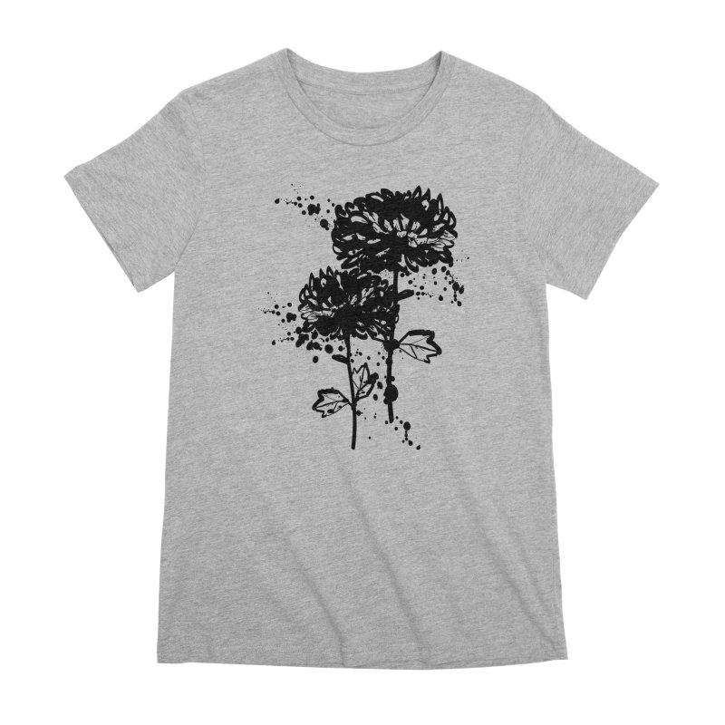 Chrysanthemum Women's Premium T-Shirt by cindyshim's Artist Shop