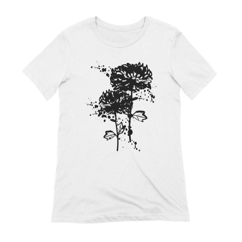 Chrysanthemum Women's Extra Soft T-Shirt by cindyshim's Artist Shop