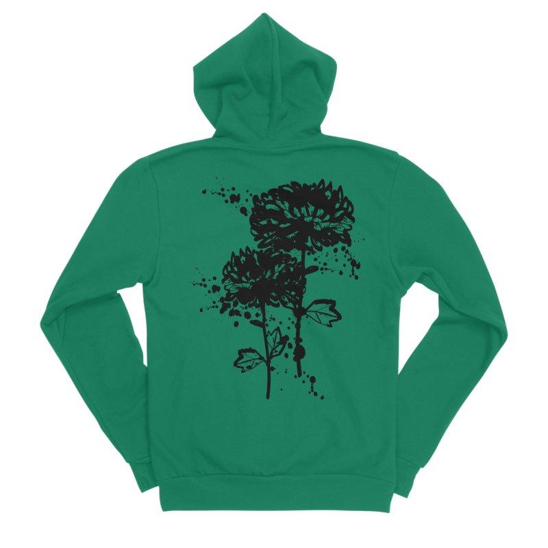 Chrysanthemum Women's Sponge Fleece Zip-Up Hoody by cindyshim's Artist Shop