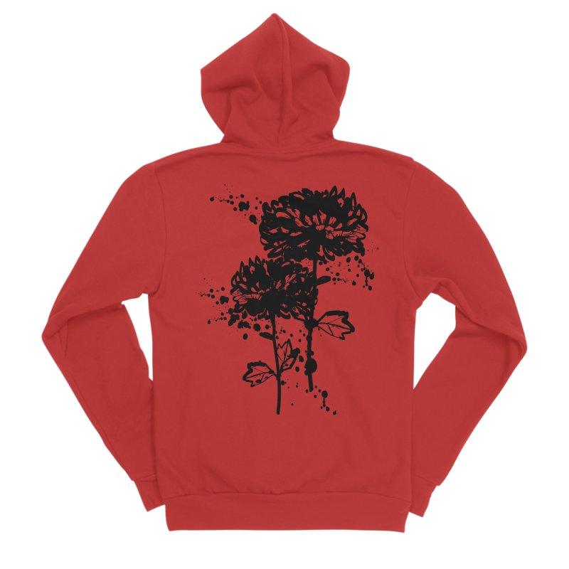 Chrysanthemum Men's Sponge Fleece Zip-Up Hoody by cindyshim's Artist Shop