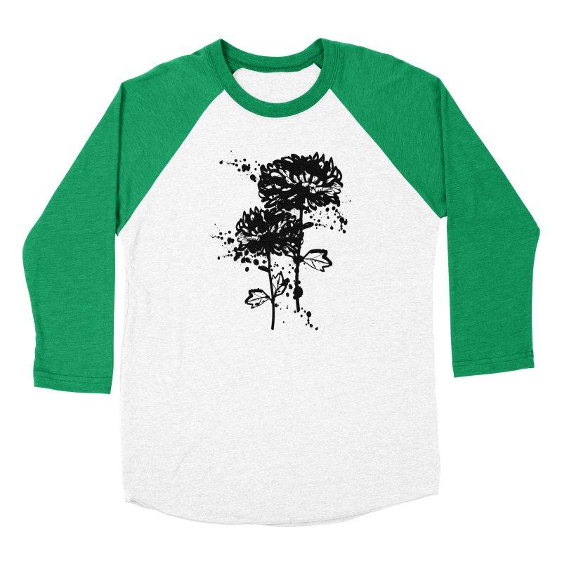 Chrysanthemum Men's Baseball Triblend Longsleeve T-Shirt by cindyshim's Artist Shop