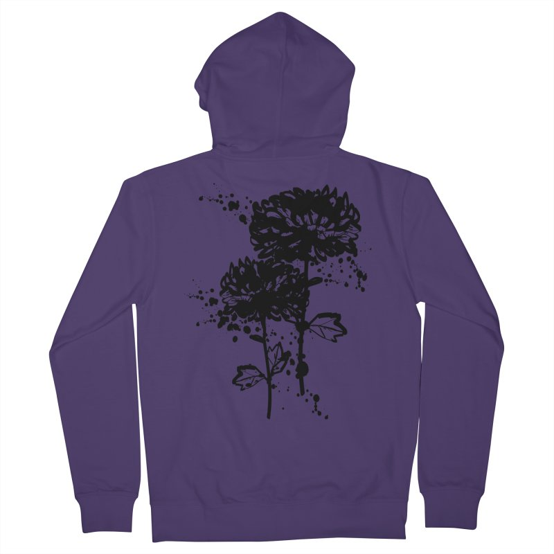 Chrysanthemum Women's French Terry Zip-Up Hoody by cindyshim's Artist Shop
