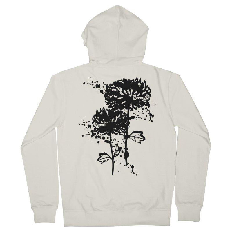 Chrysanthemum Women's French Terry Zip-Up Hoody by cindyshim's Artist Shop