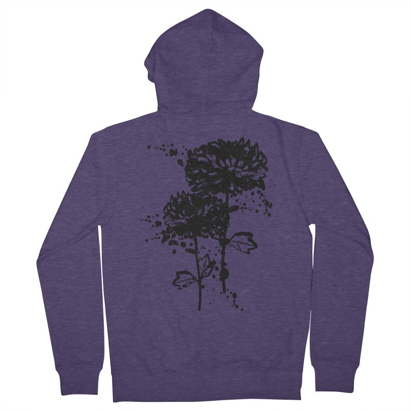 Chrysanthemum Men's French Terry Zip-Up Hoody by cindyshim's Artist Shop