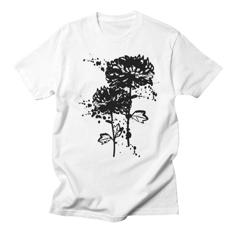 Chrysanthemum Men's Regular T-Shirt by cindyshim's Artist Shop