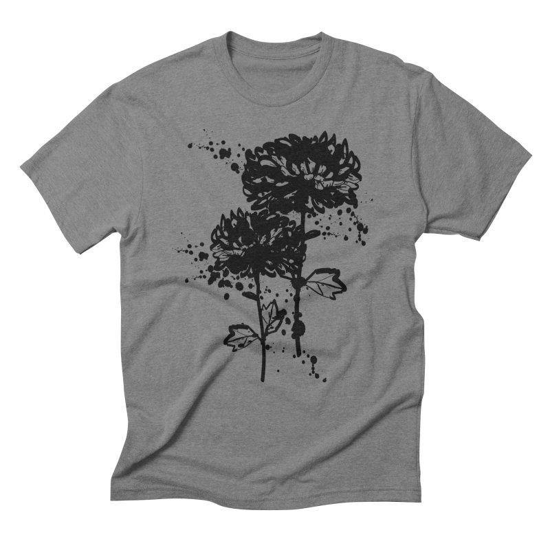 Chrysanthemum Men's Triblend T-Shirt by cindyshim's Artist Shop