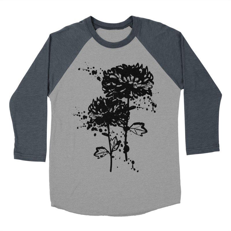 Chrysanthemum Women's Baseball Triblend Longsleeve T-Shirt by cindyshim's Artist Shop
