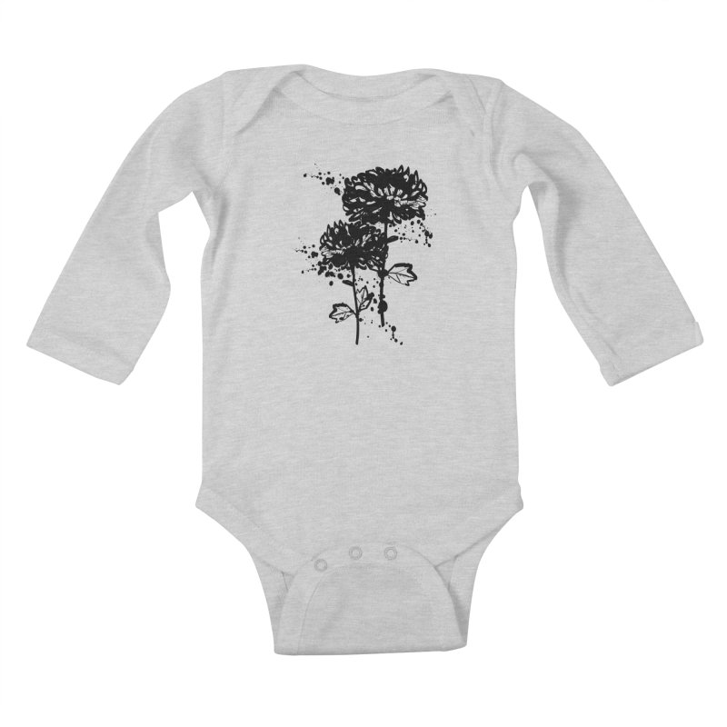 Chrysanthemum Kids Baby Longsleeve Bodysuit by cindyshim's Artist Shop