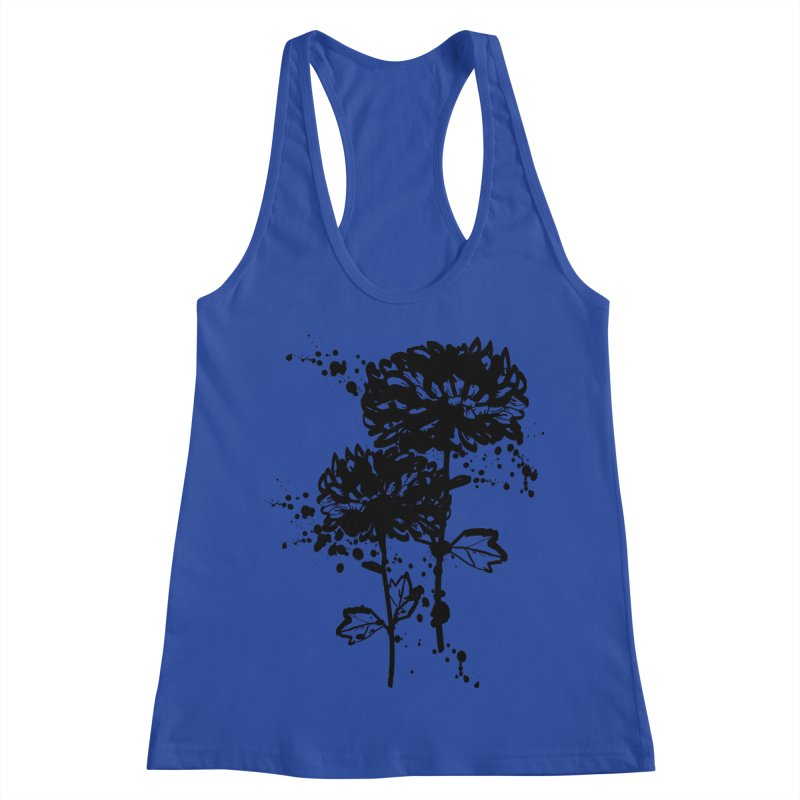 Chrysanthemum Women's Racerback Tank by cindyshim's Artist Shop