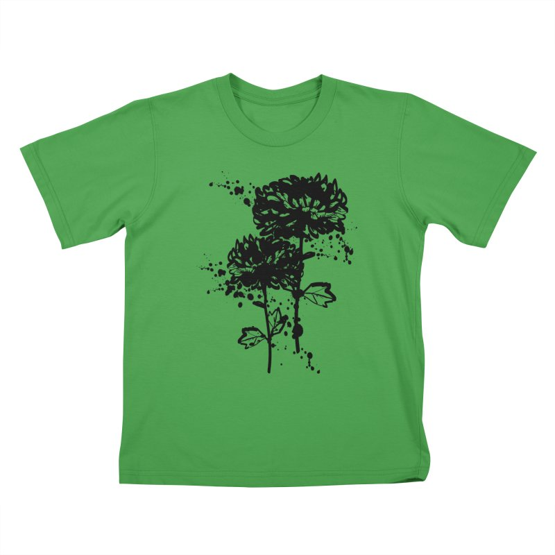 Chrysanthemum Kids T-Shirt by cindyshim's Artist Shop