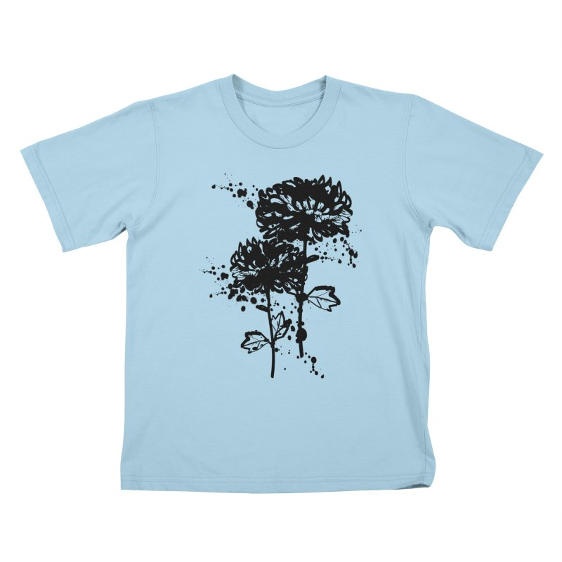 Chrysanthemum Kids T-Shirt by cindyshim's Artist Shop
