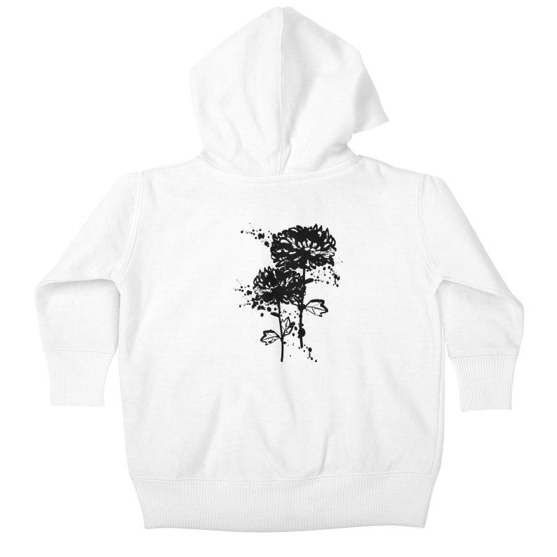 Chrysanthemum Kids Baby Zip-Up Hoody by cindyshim's Artist Shop