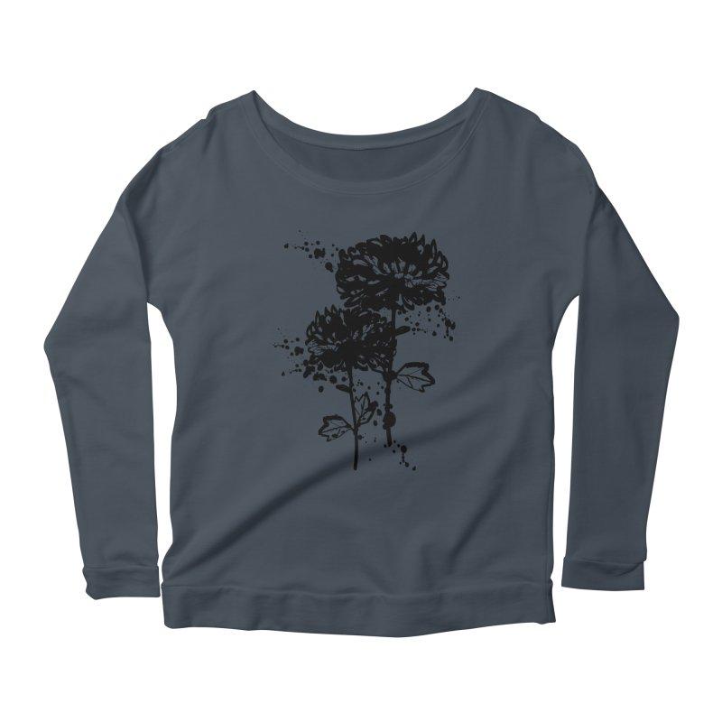 Chrysanthemum Women's Scoop Neck Longsleeve T-Shirt by cindyshim's Artist Shop