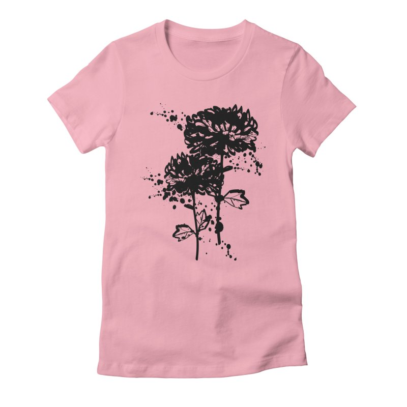 Chrysanthemum Women's Fitted T-Shirt by cindyshim's Artist Shop