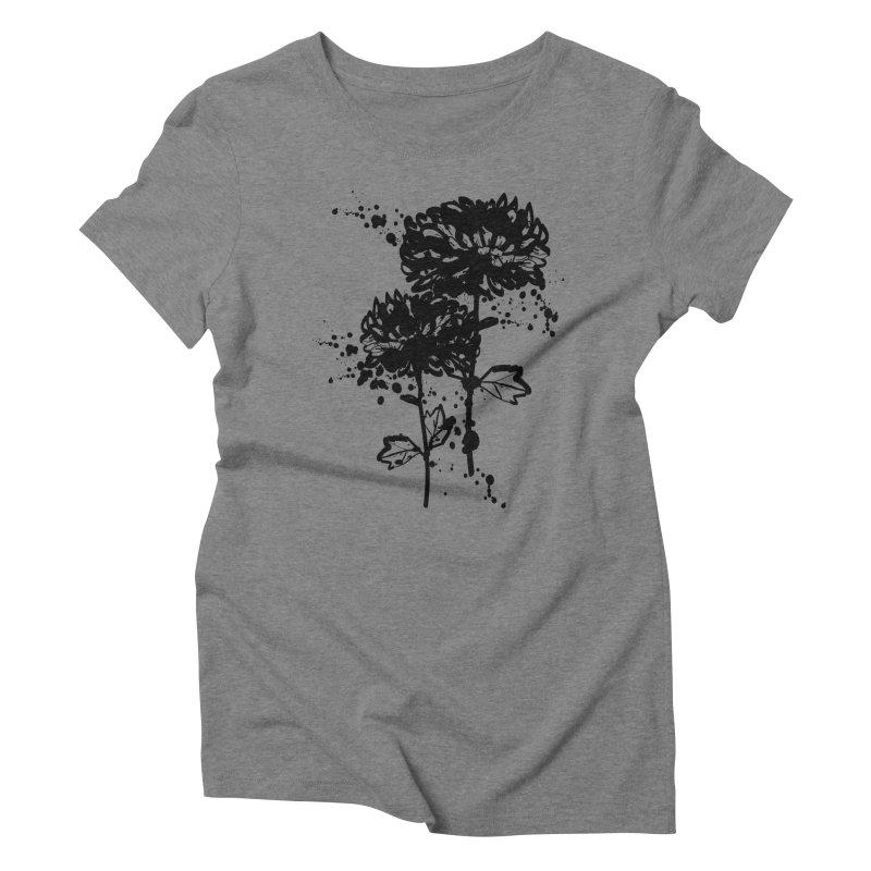 Chrysanthemum Women's Triblend T-Shirt by cindyshim's Artist Shop