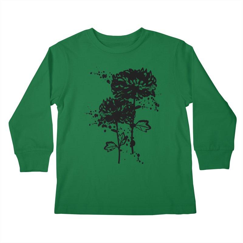 Chrysanthemum Kids Longsleeve T-Shirt by cindyshim's Artist Shop