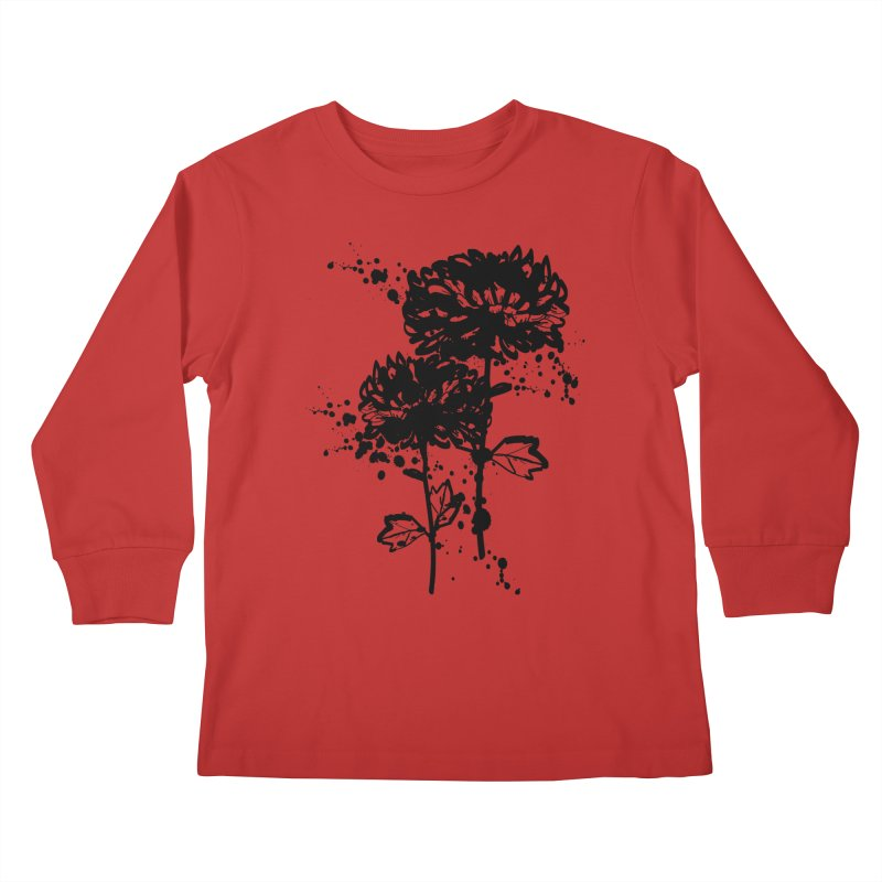 Chrysanthemum Kids Longsleeve T-Shirt by cindyshim's Artist Shop