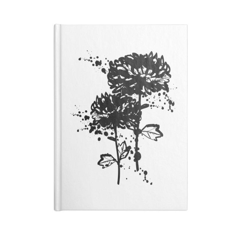 Chrysanthemum Accessories Lined Journal Notebook by cindyshim's Artist Shop