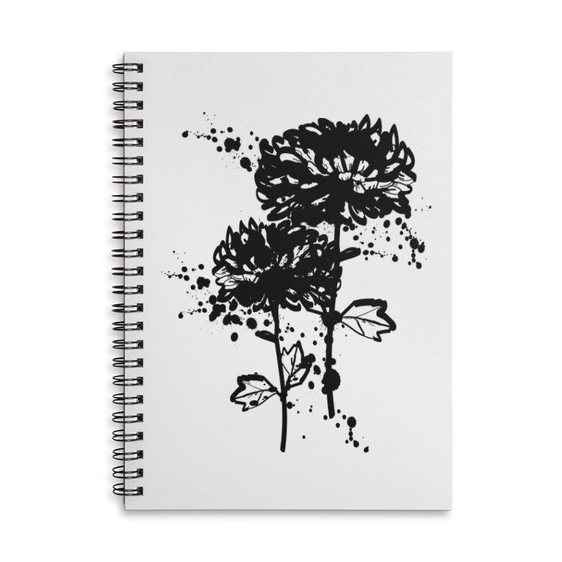 Chrysanthemum Accessories Lined Spiral Notebook by cindyshim's Artist Shop