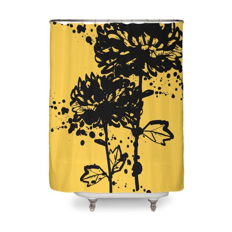Chrysanthemum Home Shower Curtain by cindyshim's Artist Shop