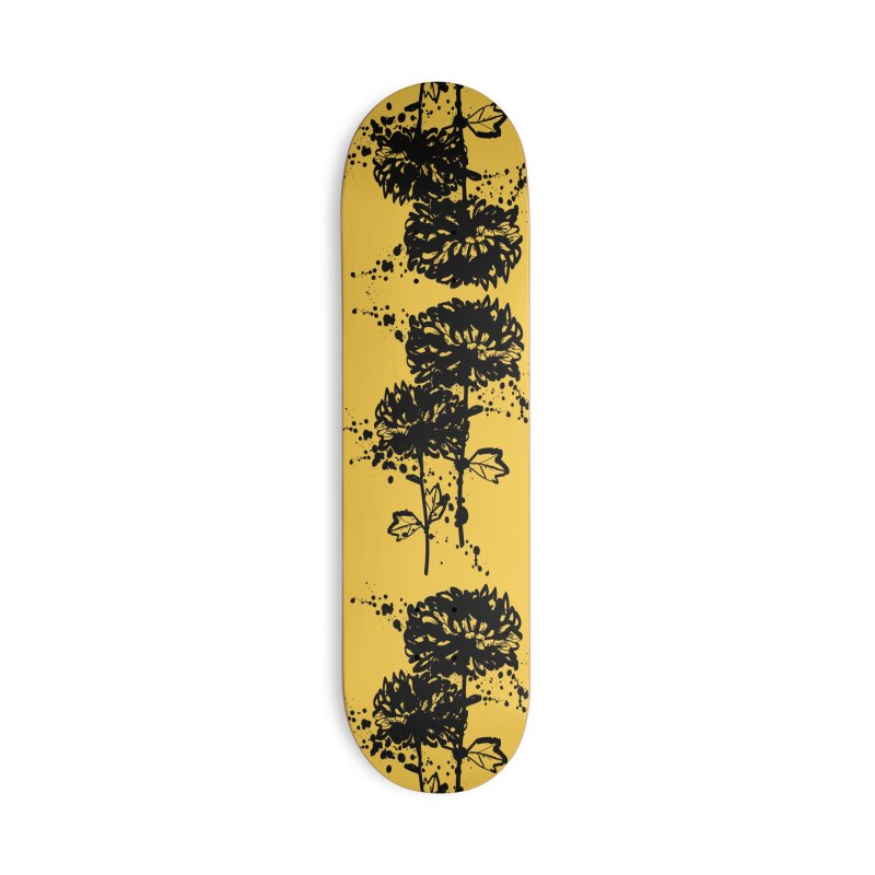 Chrysanthemum Accessories Deck Only Skateboard by cindyshim's Artist Shop