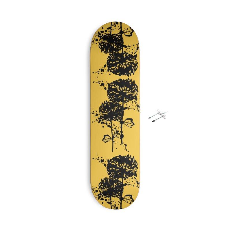 Chrysanthemum Accessories With Hanging Hardware Skateboard by cindyshim's Artist Shop