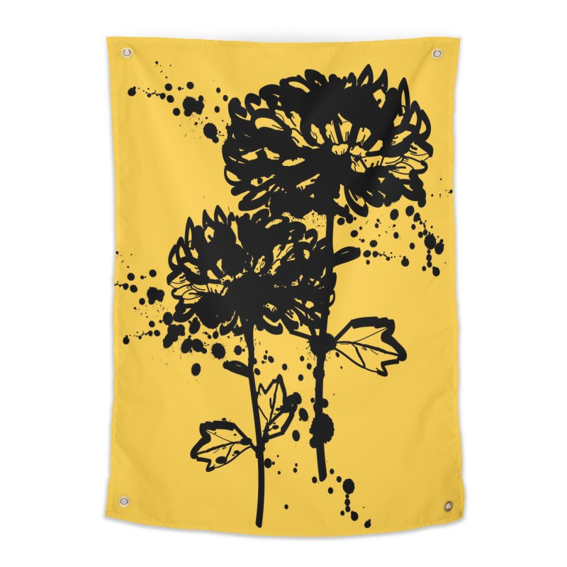 Chrysanthemum Home Tapestry by cindyshim's Artist Shop