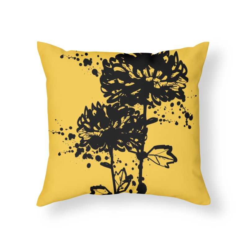 Chrysanthemum Home Throw Pillow by cindyshim's Artist Shop