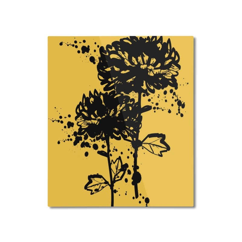 Chrysanthemum Home Mounted Aluminum Print by cindyshim's Artist Shop