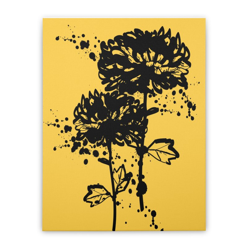 Chrysanthemum Home Stretched Canvas by cindyshim's Artist Shop