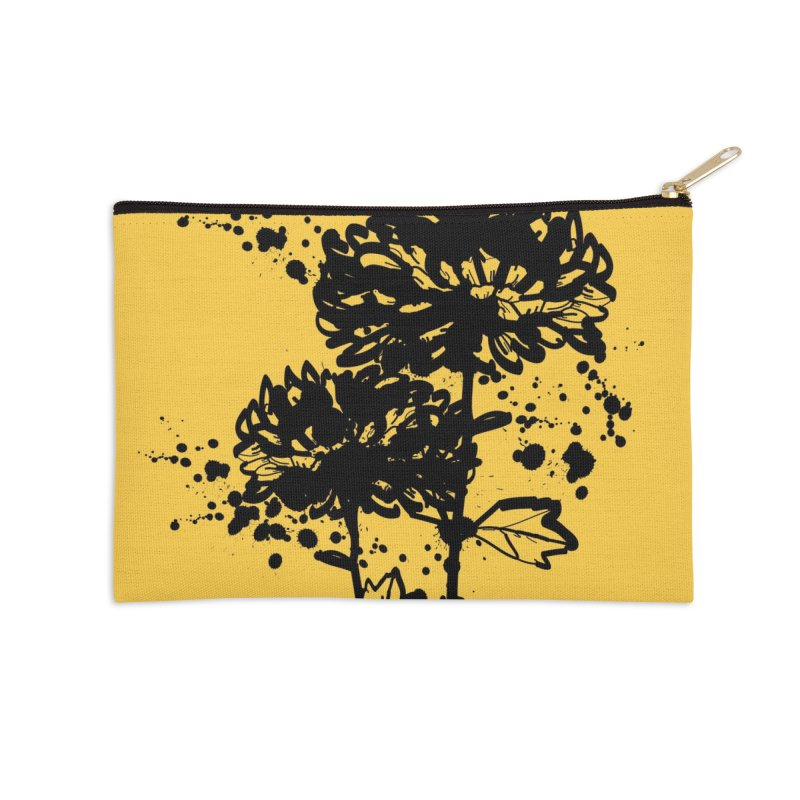 Chrysanthemum Accessories Zip Pouch by cindyshim's Artist Shop