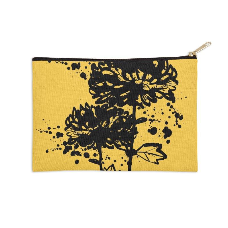 Chrysanthemum Accessories Zip Pouch by cindyshim's Artist Shop