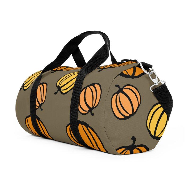 Pumpkins Accessories Duffel Bag Bag by cindyshim's Artist Shop