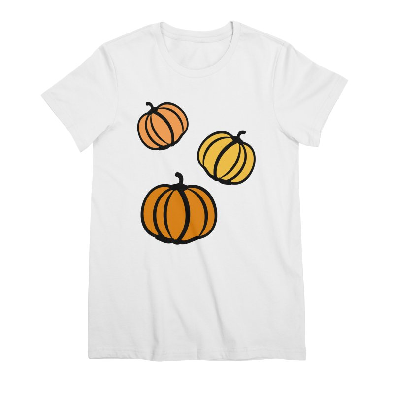 Pumpkins Women's Premium T-Shirt by cindyshim's Artist Shop
