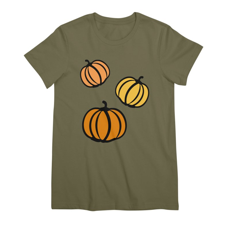 Pumpkins Women's Premium T-Shirt by cindyshim's Artist Shop