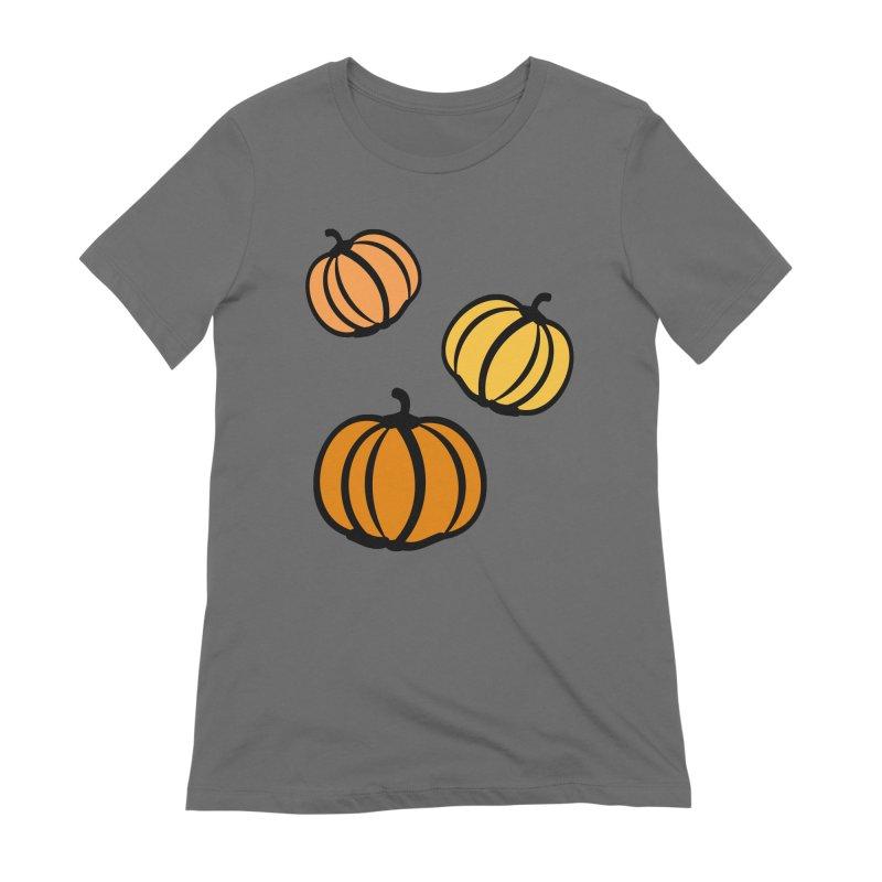 Pumpkins Women's Extra Soft T-Shirt by cindyshim's Artist Shop