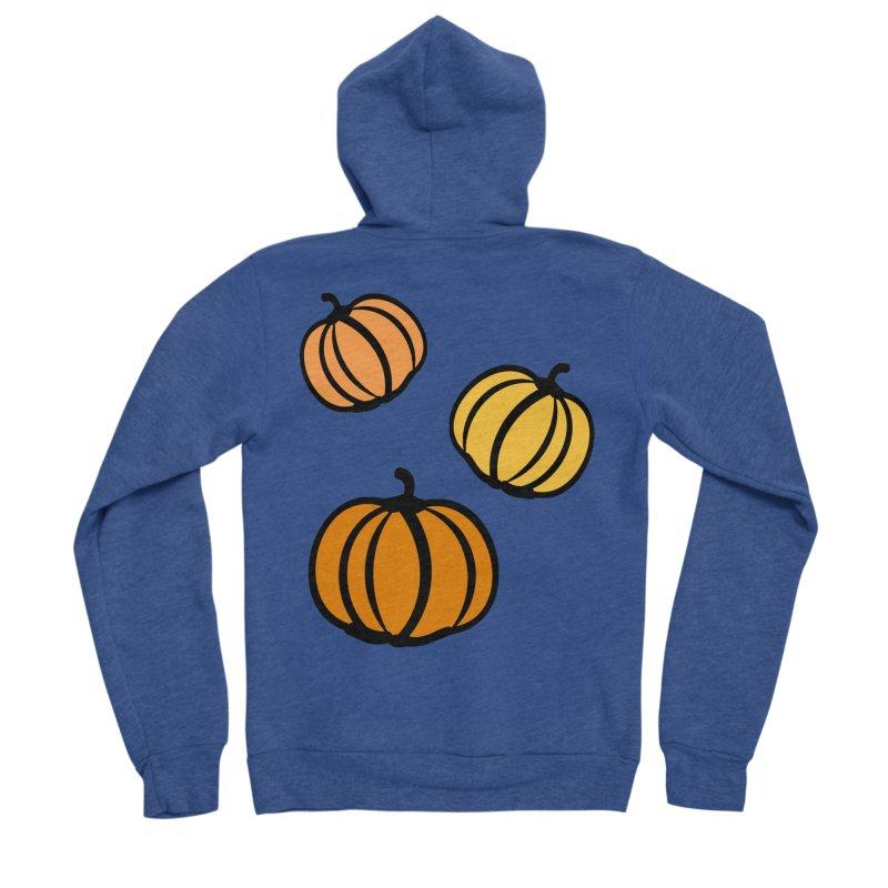 Pumpkins Women's Sponge Fleece Zip-Up Hoody by cindyshim's Artist Shop
