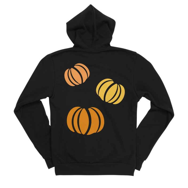 Pumpkins Men's Sponge Fleece Zip-Up Hoody by cindyshim's Artist Shop