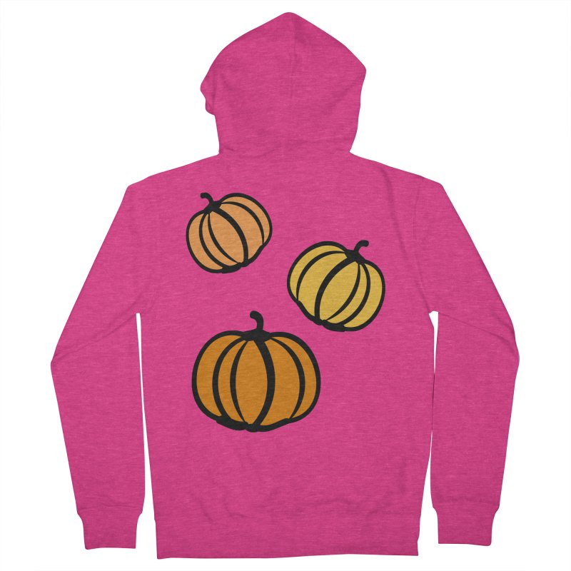 Pumpkins Women's French Terry Zip-Up Hoody by cindyshim's Artist Shop
